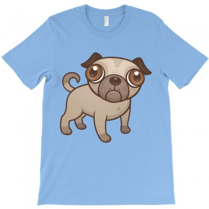 Pug Puppy Cartoon T-shirt Designed By Fizzgig