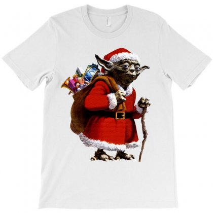 Yoda Christmas T-shirt Designed By Sengul