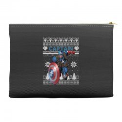 captain america man christmas ugly Accessory Pouches | Artistshot