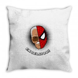 stan lee spiderman excelsior for light Throw Pillow | Artistshot