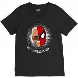 stan lee spiderman excelsior for dark V-Neck Tee | Artistshot