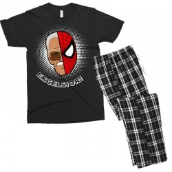 stan lee spiderman excelsior for dark Men's T-shirt Pajama Set | Artistshot