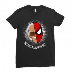stan lee spiderman excelsior for dark Ladies Fitted T-Shirt | Artistshot