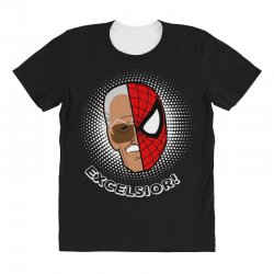 stan lee spiderman excelsior for dark All Over Women's T-shirt | Artistshot