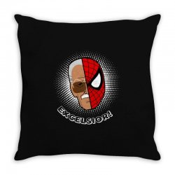stan lee spiderman excelsior for dark Throw Pillow | Artistshot