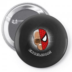 stan lee spiderman excelsior for dark Pin-back button | Artistshot