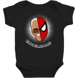 stan lee spiderman excelsior for dark Baby Bodysuit | Artistshot
