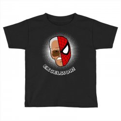 stan lee spiderman excelsior for dark Toddler T-shirt | Artistshot