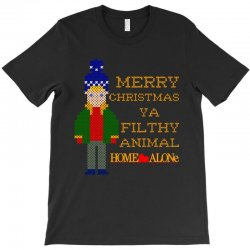 merry christmas ya filthy animal home alone T-Shirt | Artistshot