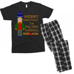 merry christmas ya filthy animal home alone Men's T-shirt Pajama Set | Artistshot