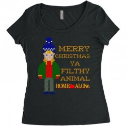 merry christmas ya filthy animal home alone Women's Triblend Scoop T-shirt | Artistshot