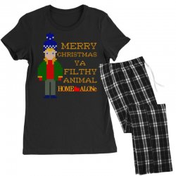 merry christmas ya filthy animal home alone Women's Pajamas Set | Artistshot