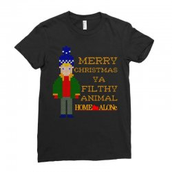 merry christmas ya filthy animal home alone Ladies Fitted T-Shirt | Artistshot