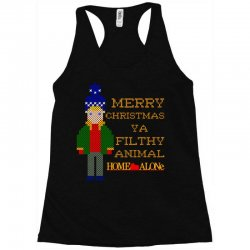 merry christmas ya filthy animal home alone Racerback Tank | Artistshot