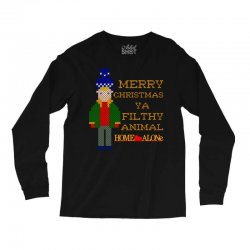 merry christmas ya filthy animal home alone Long Sleeve Shirts | Artistshot
