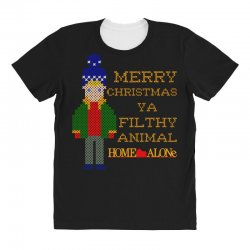merry christmas ya filthy animal home alone All Over Women's T-shirt | Artistshot