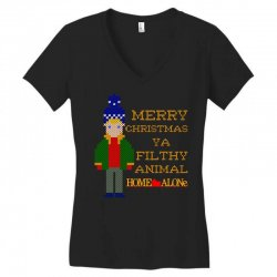 merry christmas ya filthy animal home alone Women's V-Neck T-Shirt | Artistshot