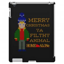 merry christmas ya filthy animal home alone iPad 3 and 4 Case | Artistshot
