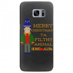 merry christmas ya filthy animal home alone Samsung Galaxy S7 Edge Case | Artistshot