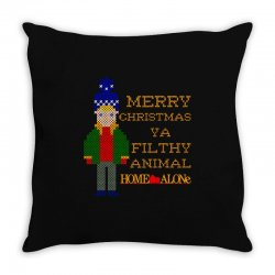 merry christmas ya filthy animal home alone Throw Pillow | Artistshot