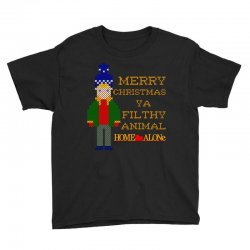 merry christmas ya filthy animal home alone Youth Tee | Artistshot