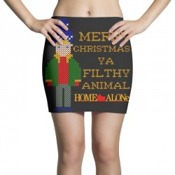 merry christmas ya filthy animal home alone Mini Skirts | Artistshot