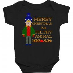 merry christmas ya filthy animal home alone Baby Bodysuit | Artistshot