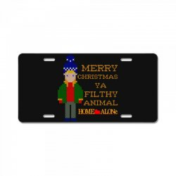 merry christmas ya filthy animal home alone License Plate | Artistshot