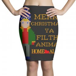 merry christmas ya filthy animal home alone Pencil Skirts | Artistshot
