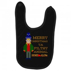 merry christmas ya filthy animal home alone Baby Bibs | Artistshot