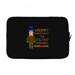 merry christmas ya filthy animal home alone Laptop sleeve | Artistshot