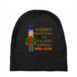 merry christmas ya filthy animal home alone Baby Beanies | Artistshot