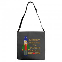 merry christmas ya filthy animal home alone Adjustable Strap Totes | Artistshot
