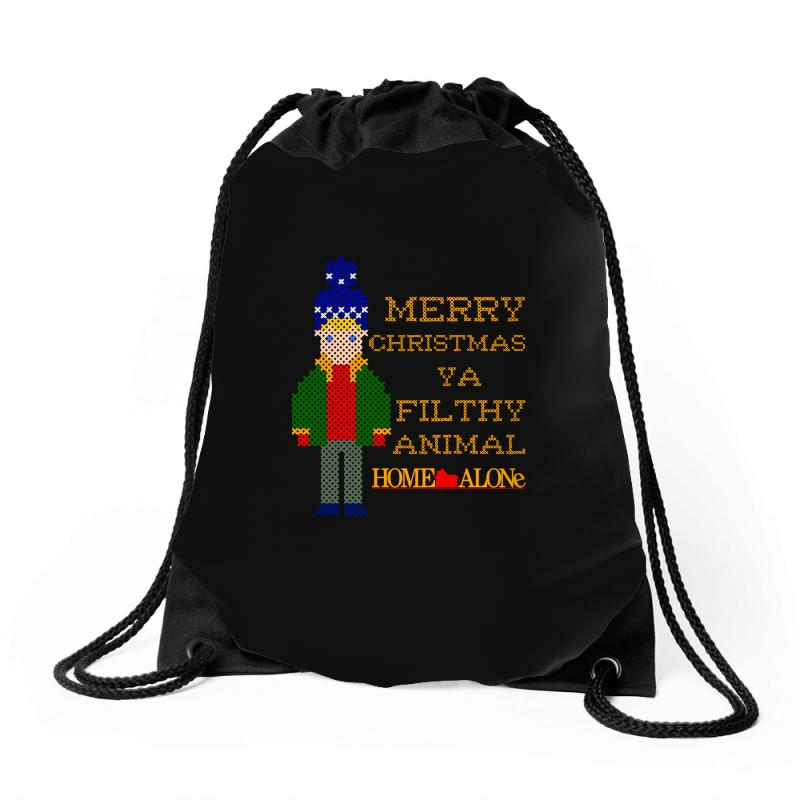 Merry Christmas Ya Filthy Animal Home Alone Drawstring Bags | Artistshot