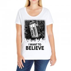 i want to believe tardis for light Ladies Curvy T-Shirt | Artistshot