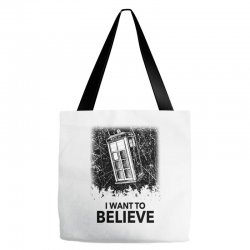 i want to believe tardis for light Tote Bags | Artistshot