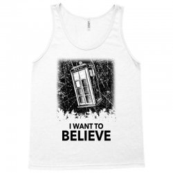 i want to believe tardis for light Tank Top | Artistshot