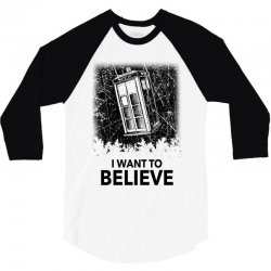 i want to believe tardis for light 3/4 Sleeve Shirt | Artistshot