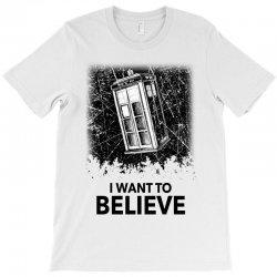 i want to believe tardis for light T-Shirt | Artistshot