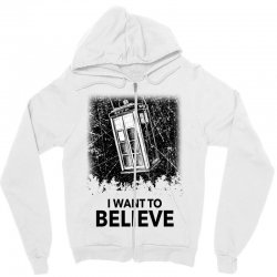 i want to believe tardis for light Zipper Hoodie | Artistshot