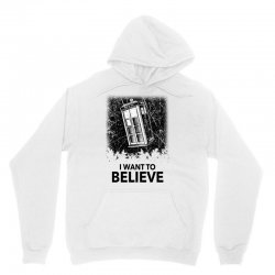 i want to believe tardis for light Unisex Hoodie | Artistshot