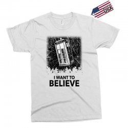 i want to believe tardis for light Exclusive T-shirt | Artistshot