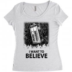 i want to believe tardis for light Women's Triblend Scoop T-shirt | Artistshot