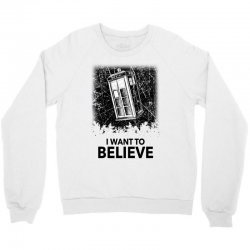 i want to believe tardis for light Crewneck Sweatshirt | Artistshot