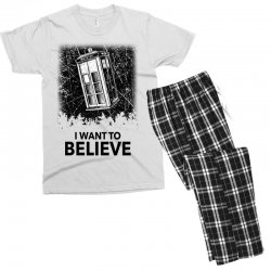 i want to believe tardis for light Men's T-shirt Pajama Set | Artistshot