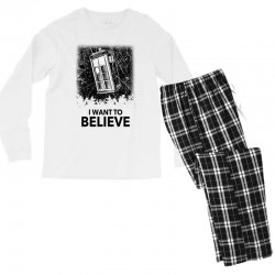 i want to believe tardis for light Men's Long Sleeve Pajama Set | Artistshot