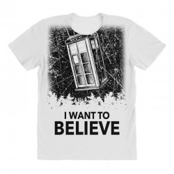 i want to believe tardis for light All Over Women's T-shirt | Artistshot