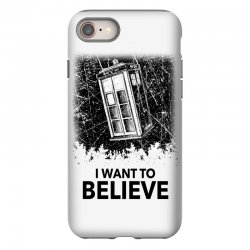 i want to believe tardis for light iPhone 8 | Artistshot