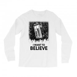i want to believe tardis for light Long Sleeve Shirts | Artistshot