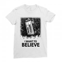 i want to believe tardis for light Ladies Fitted T-Shirt | Artistshot